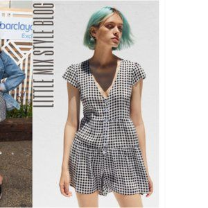 Urban Outfitters Black and White Checkered Romper